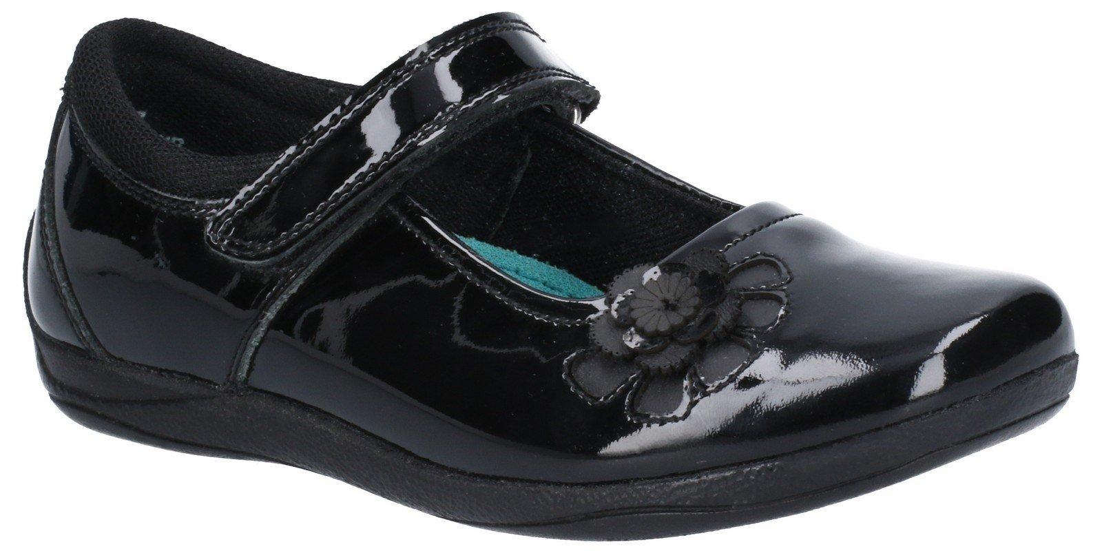 Hush Puppies Women's Jessica Patent Jnr School Shoe Various Colours 29246 - Black 10