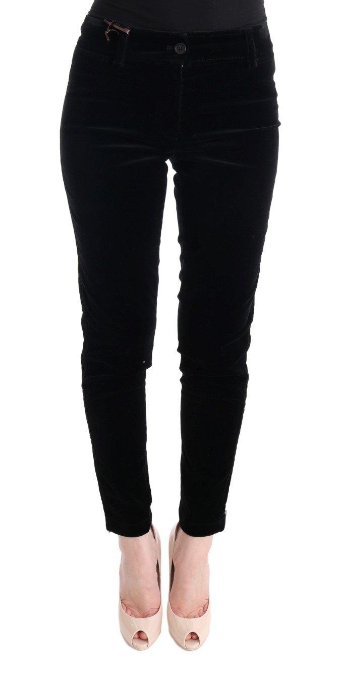 Ermanno Scervino Women's Cropped Trouser Black SIG30308 - IT38|XS
