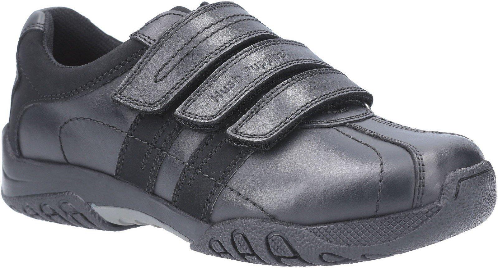 Hush Puppies Men's Seb Back To School Shoe Black 25348 - Black 10