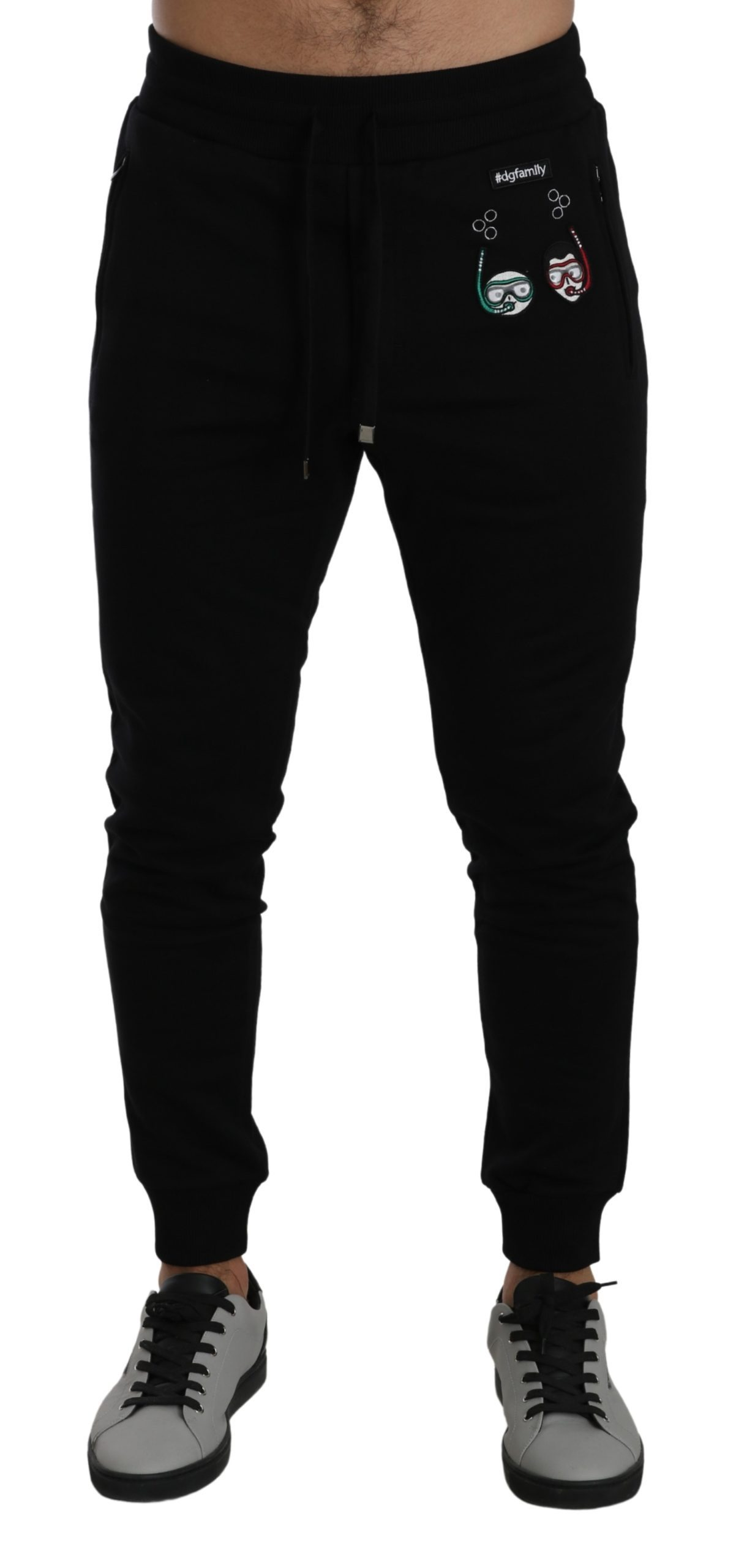 Dolce & Gabbana Men's Jogging Cotton Trouser Black PAN71425 - IT46 | S