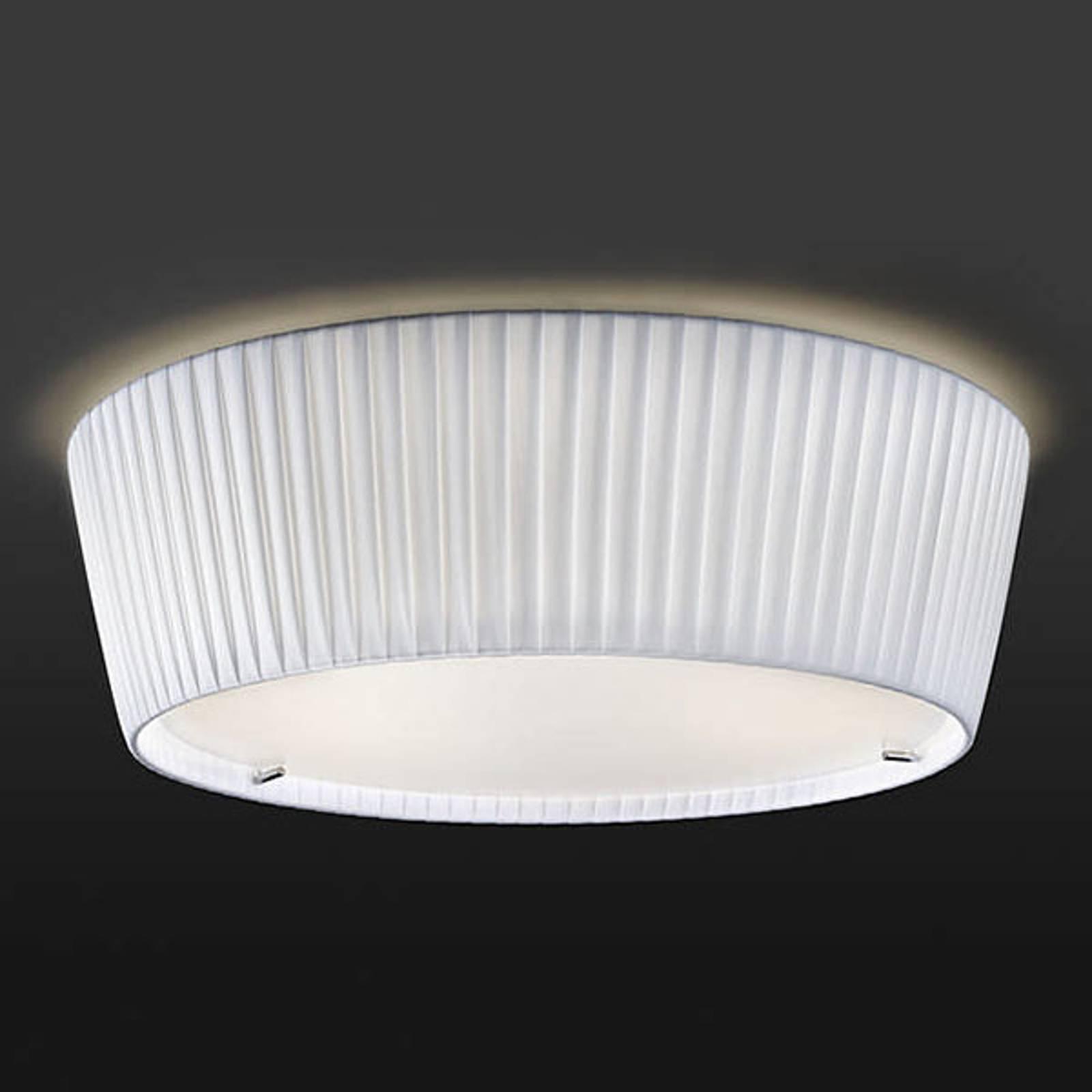 Bover Plafonet 43 - stoff-taklampe, bånd hvit