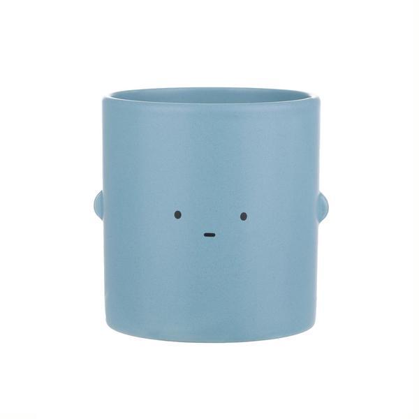 Blue Straight Face Toki Plant Pot