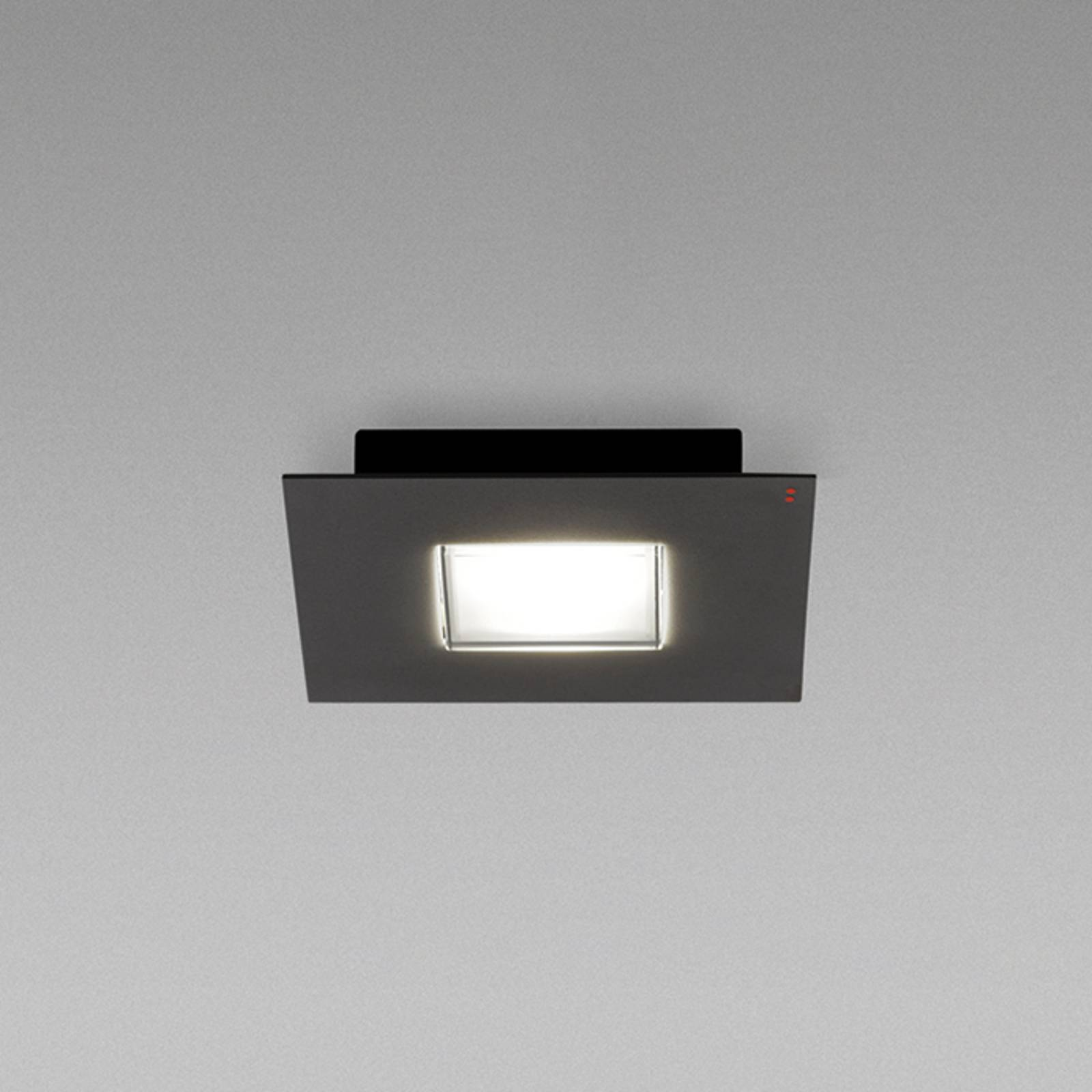 Fabbian Quarter -LED-kattovalaisin 1-lamp. musta