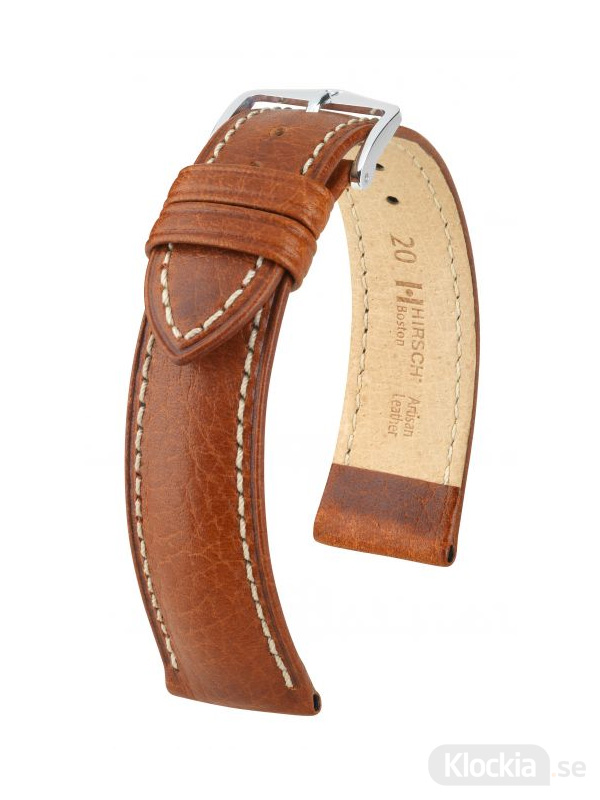 Klockarmband Hirsch Boston 18mm Large Guldbrun/Silver 01302070-2-18