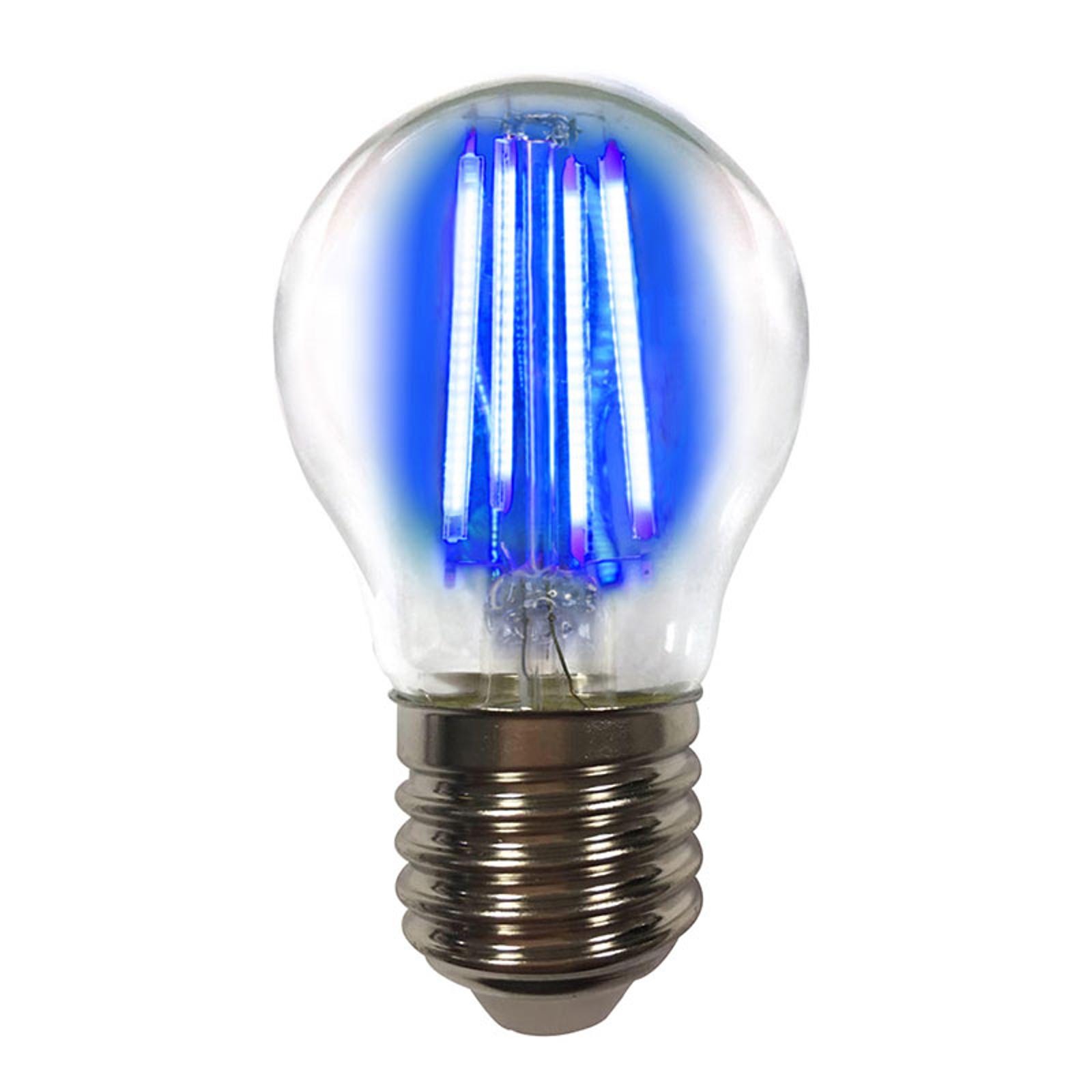 Värillinen E27 4W -LED-lamppu filament, sininen