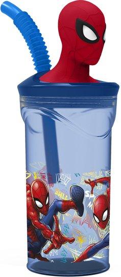 Marvel Spider-Man Drikkeglass med Sugerør 350 ml