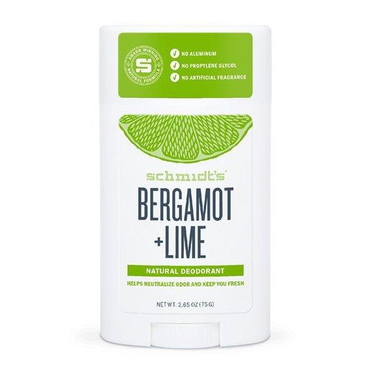 Schmidts Naturals Deodorant Stick Bergamot + Lime, 75 g
