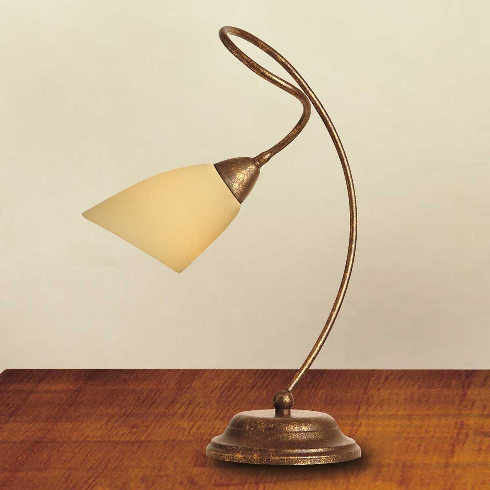 Bordlampe Alessandro, antikkbrun