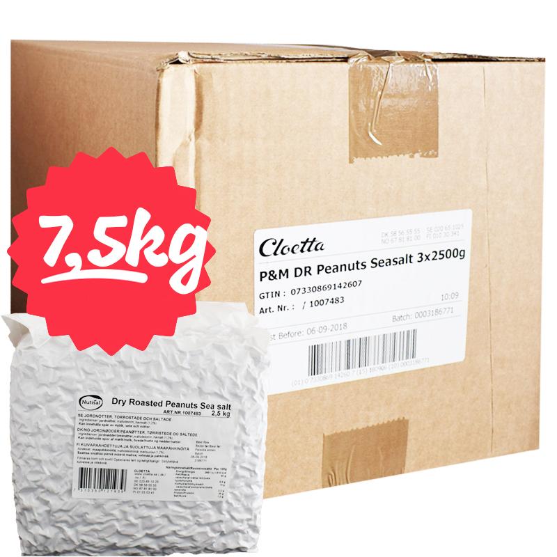 Hel Låda Jordnötter 3 x 2500g - 73% rabatt