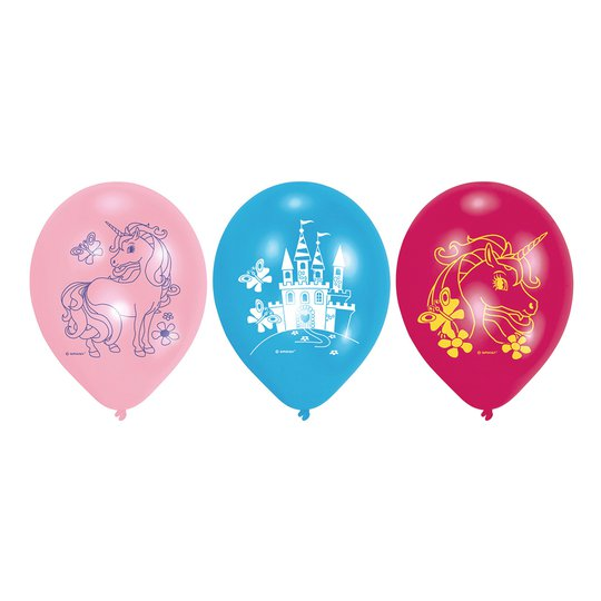 Ballonger Enhörningskalas - 6-pack