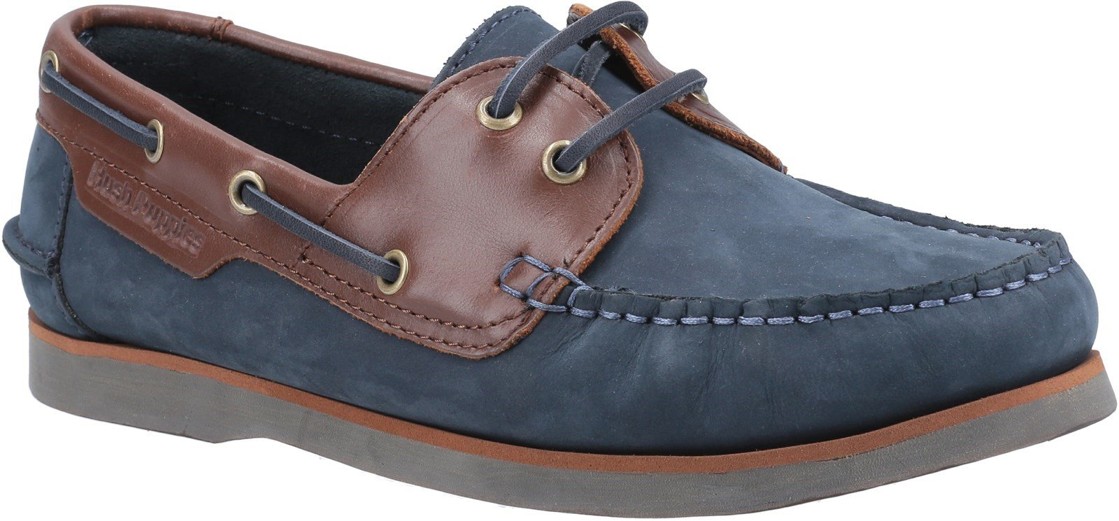 Hush Puppies Women's Hattie Lace Loafer Various Colours 30223 - Navy/Tan 3