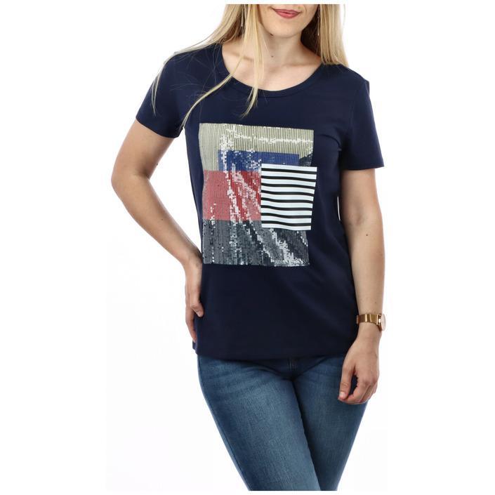 Armani Jeans Women's T-Shirt Blue 271609 - blue M