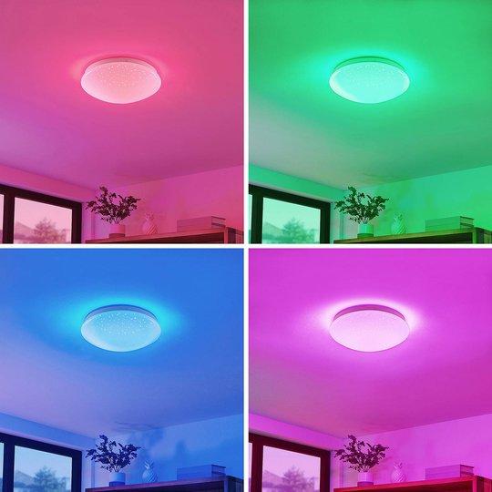 Lindby Janosch -LED-kattovalaisin kaukosäätimellä