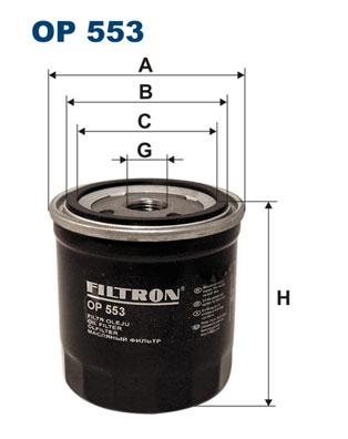 Öljynsuodatin FILTRON OP 553