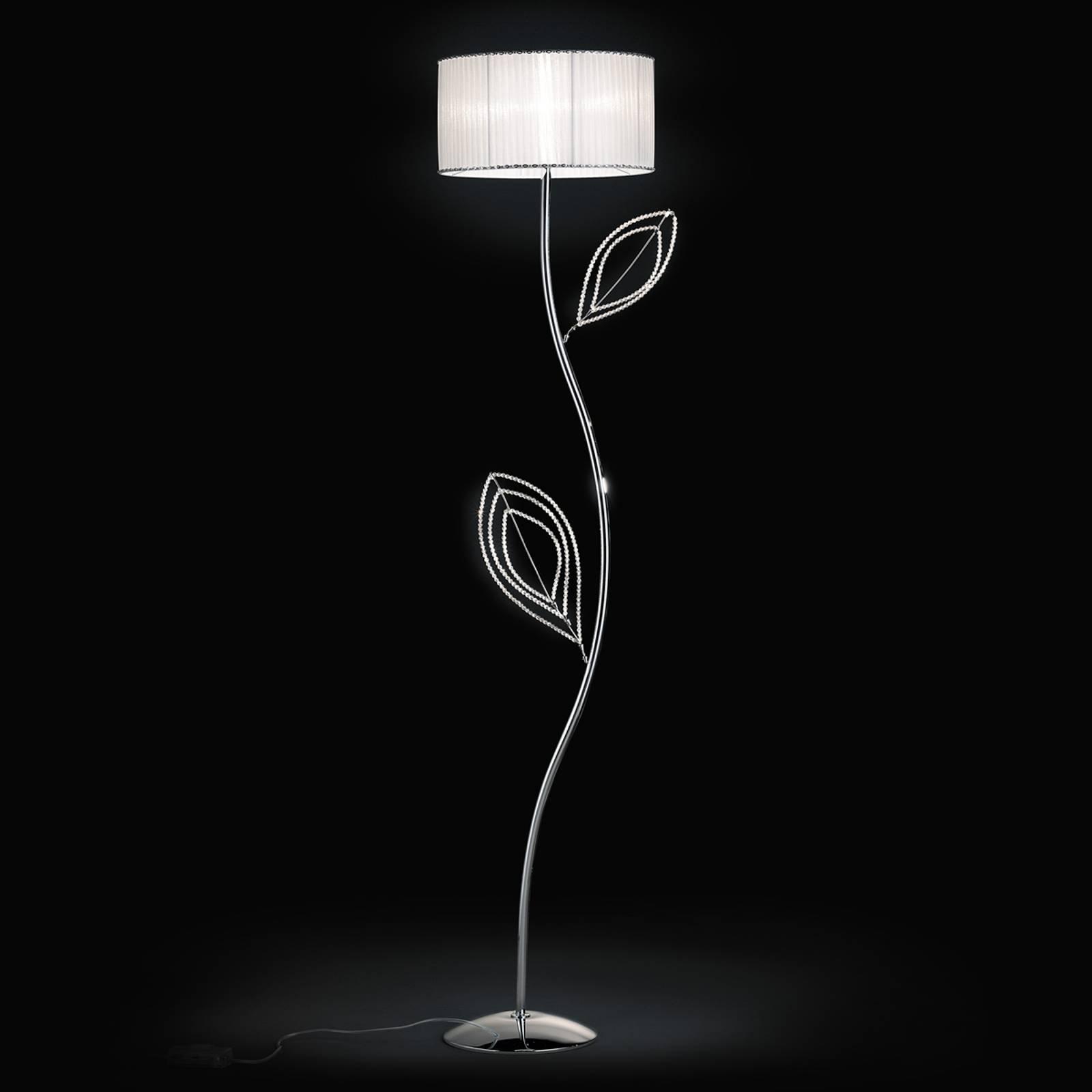 Girasole gulvlampe med tekstilskjerm