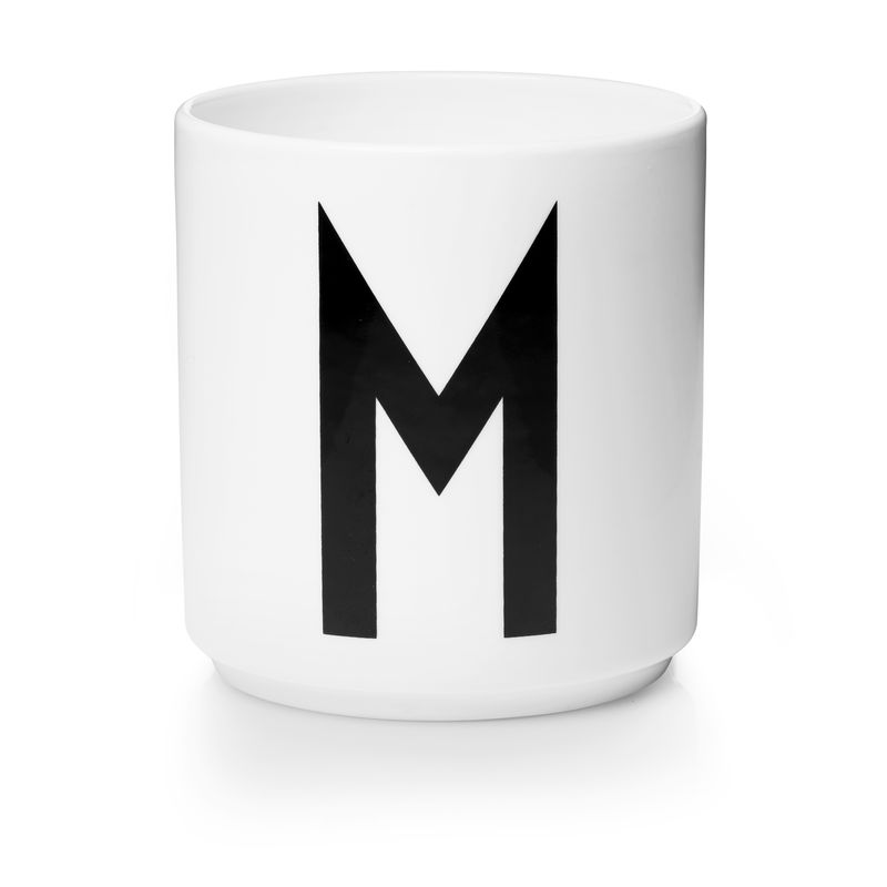 Design Letters - Personal Porcelain Cup M - White