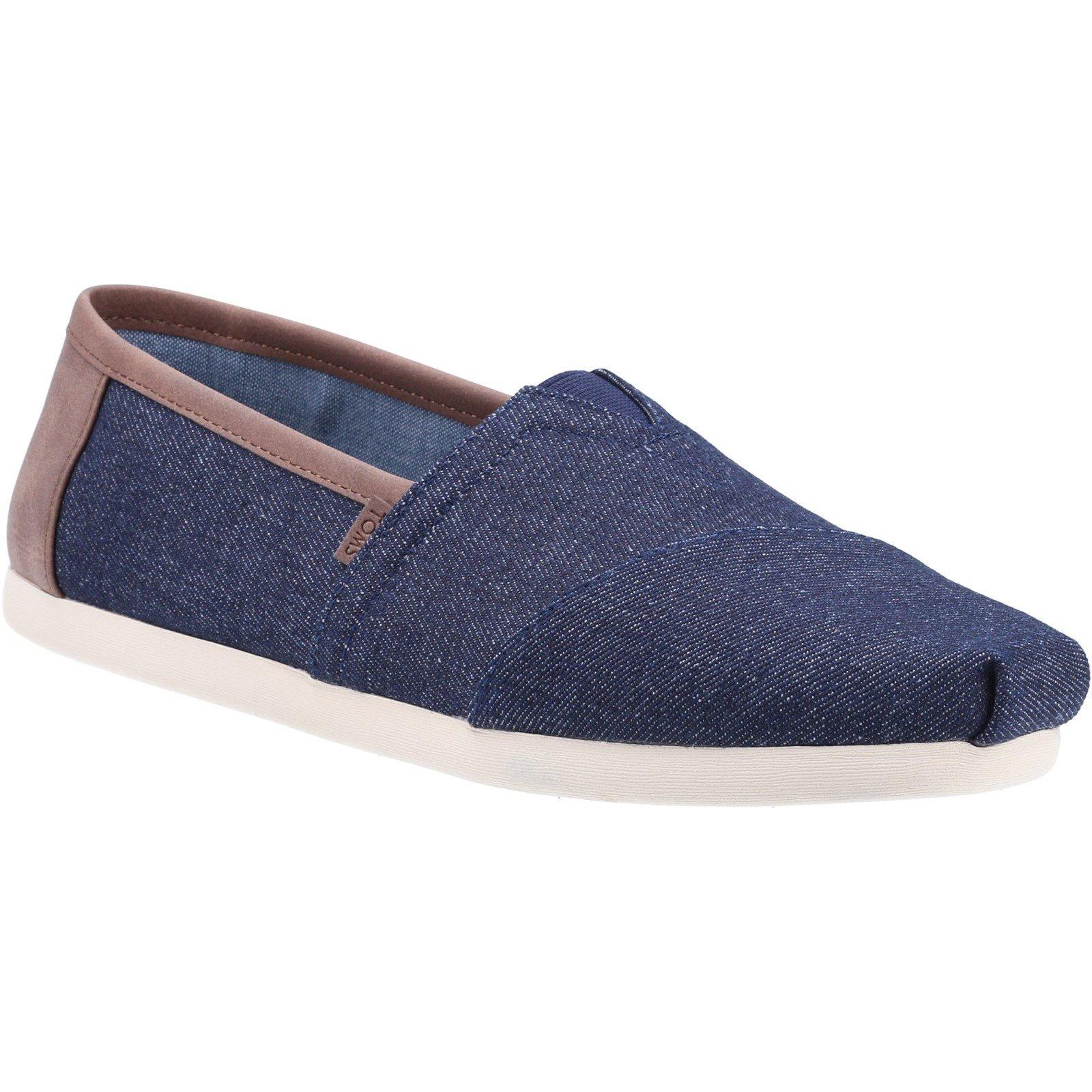 TOMS Men's Alpargata Dark Denim Trim Loafer Blue 32548 - Blue 8
