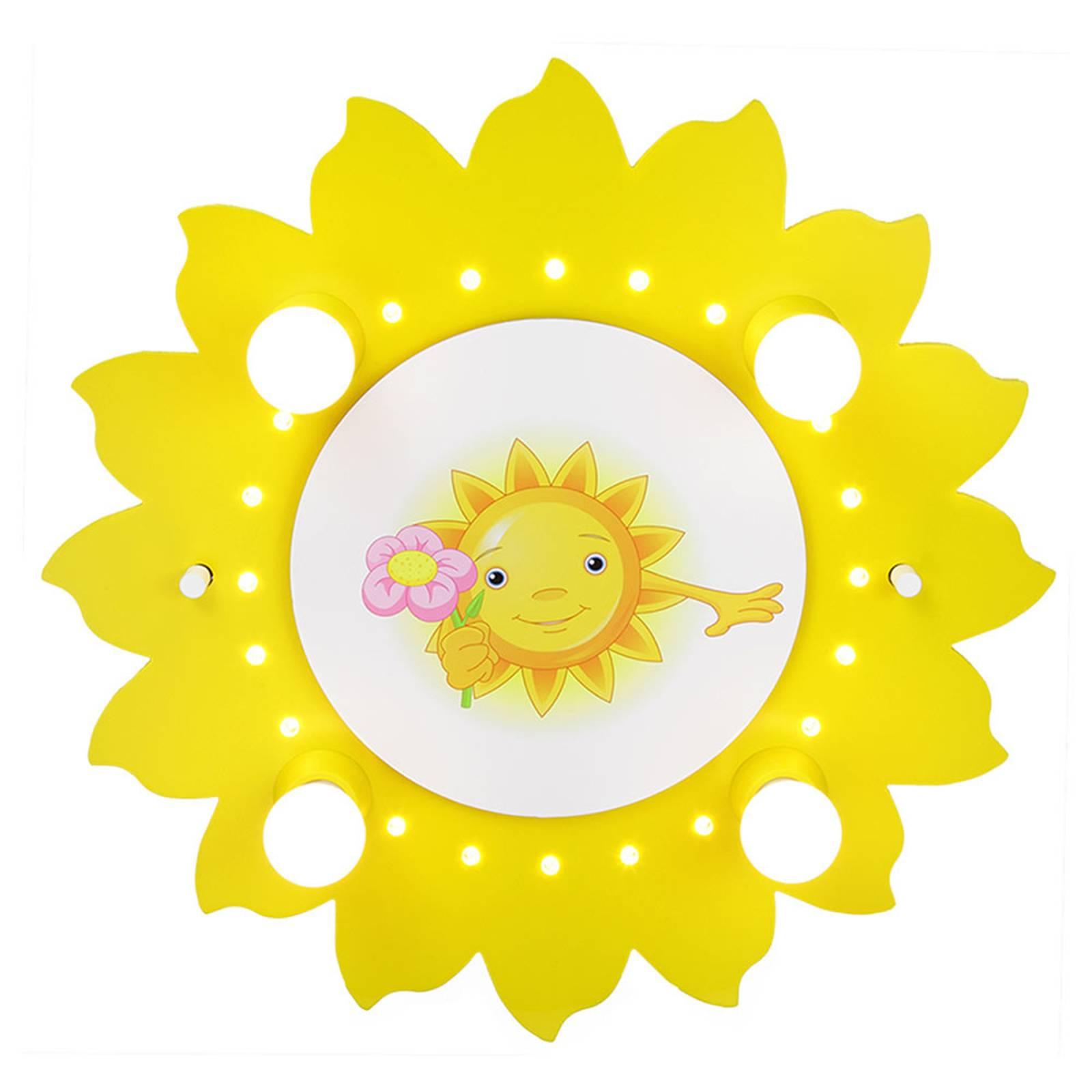 Kattovalaisin Aurinko ja kukka, 4-lamppuinen