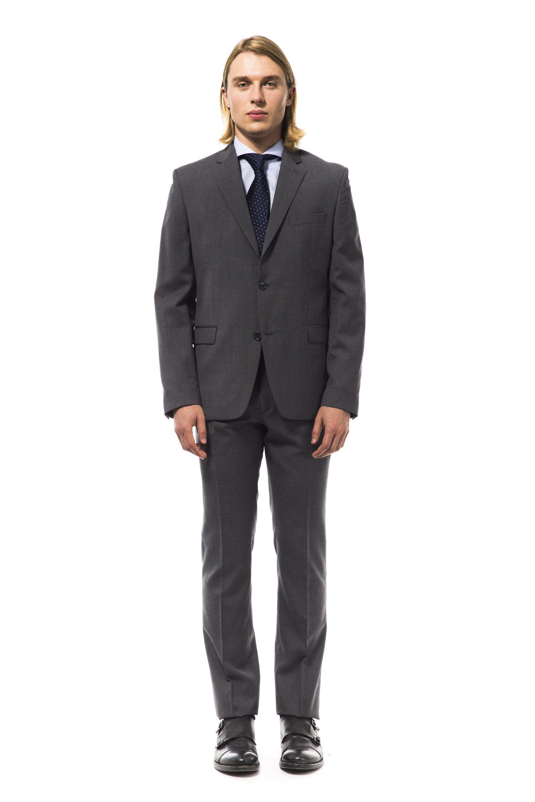 Uominitaliani Men's Suit Gray UO995854 - IT48 | M