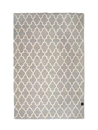 Trellis teppe grå/hvit -200x300
