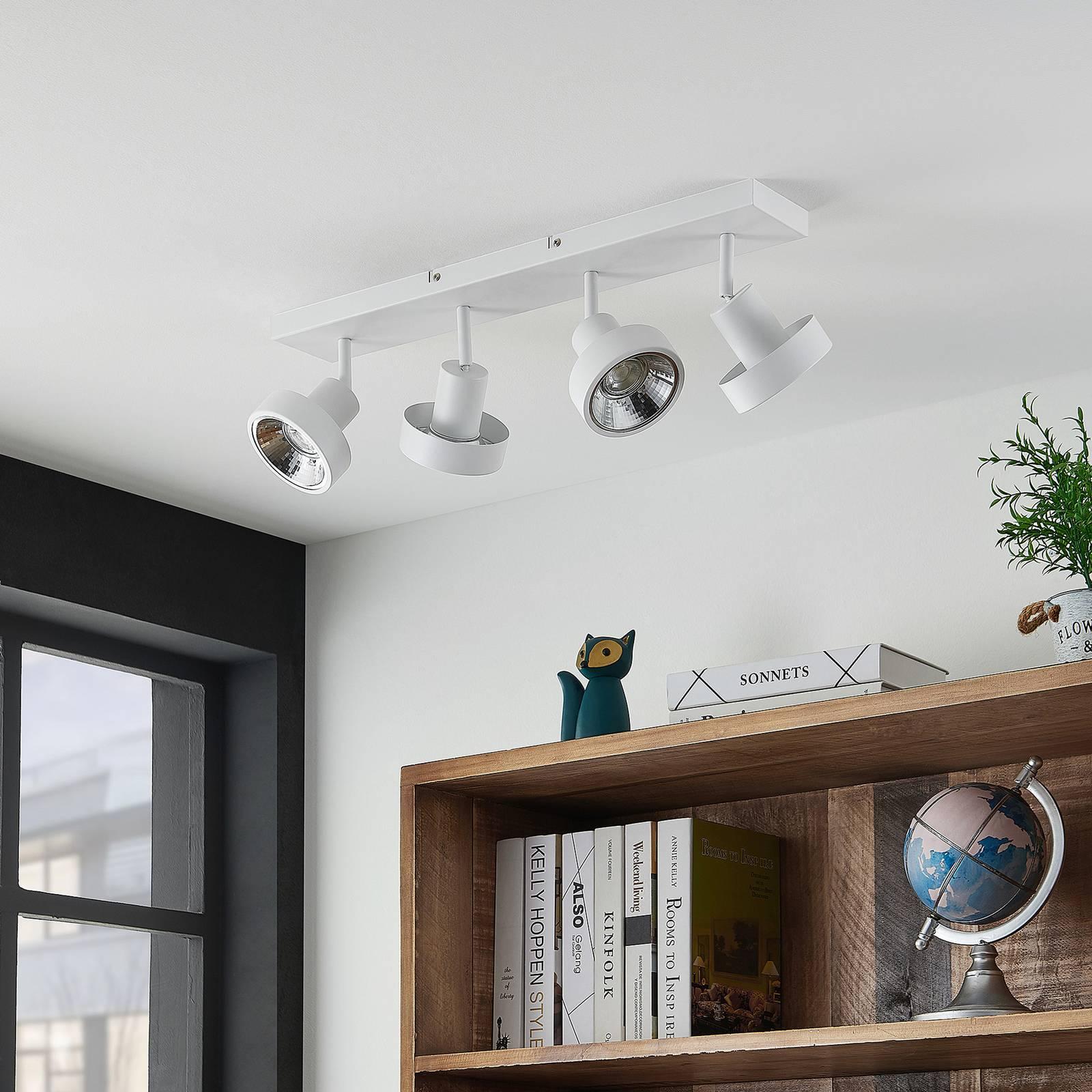 Lindby Ignacio -kattovalo, 4-lamppuinen, valkoinen