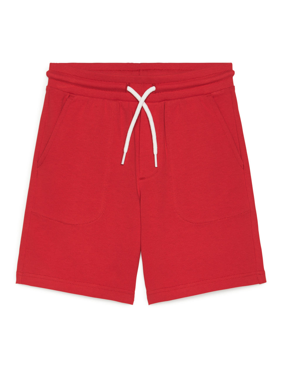 Elastic-Waist Shorts - Red