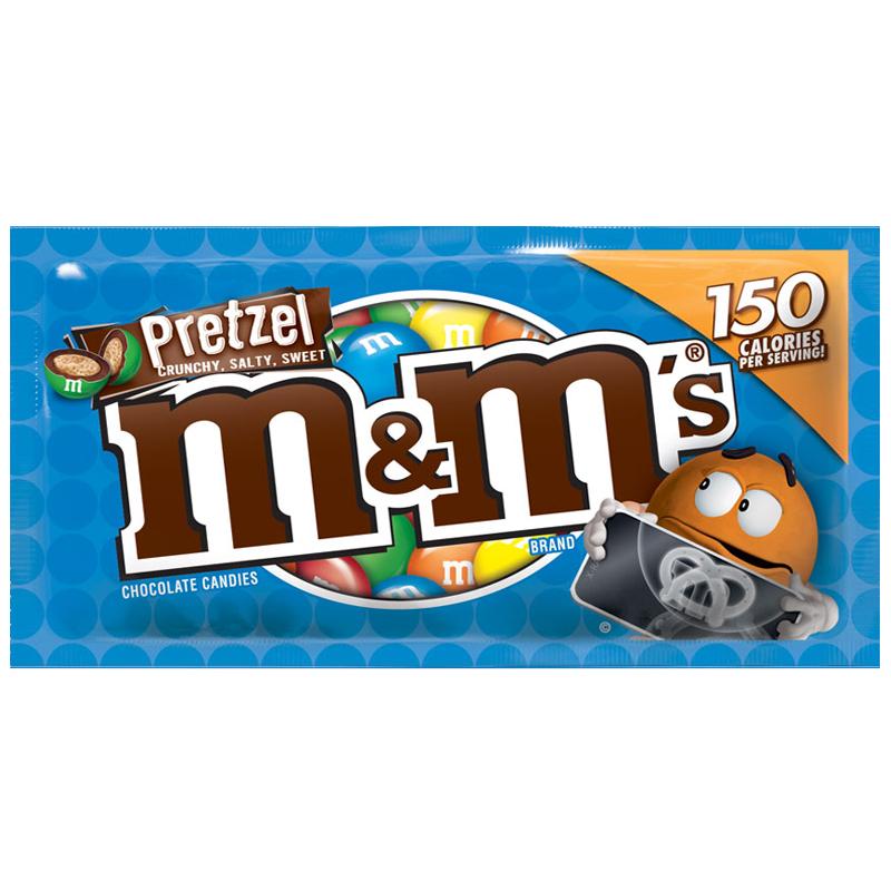 """Godis """"M&M Pretzel"""" 32,3g - 75% rabatt"""