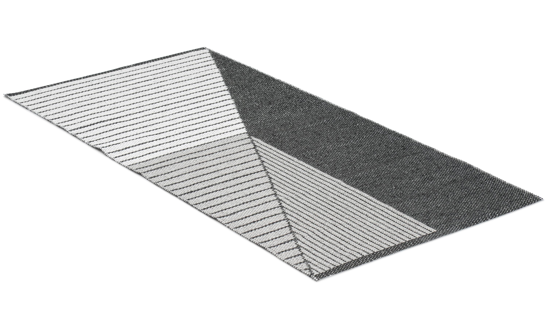 Stripe grå - plastteppe