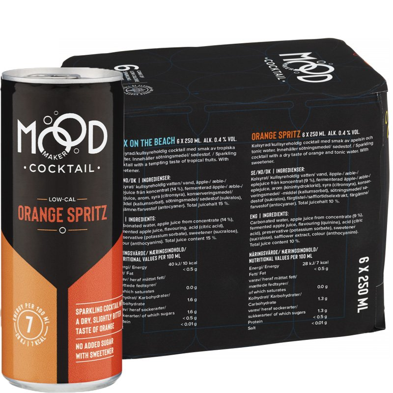 "Dryck Cocktail ""Orange Spritz"" 6 x 250ml - 34% rabatt"