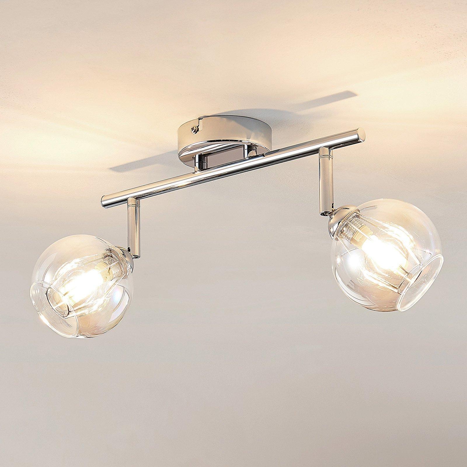 Lindby Pranas LED-takspot, to lyskilder