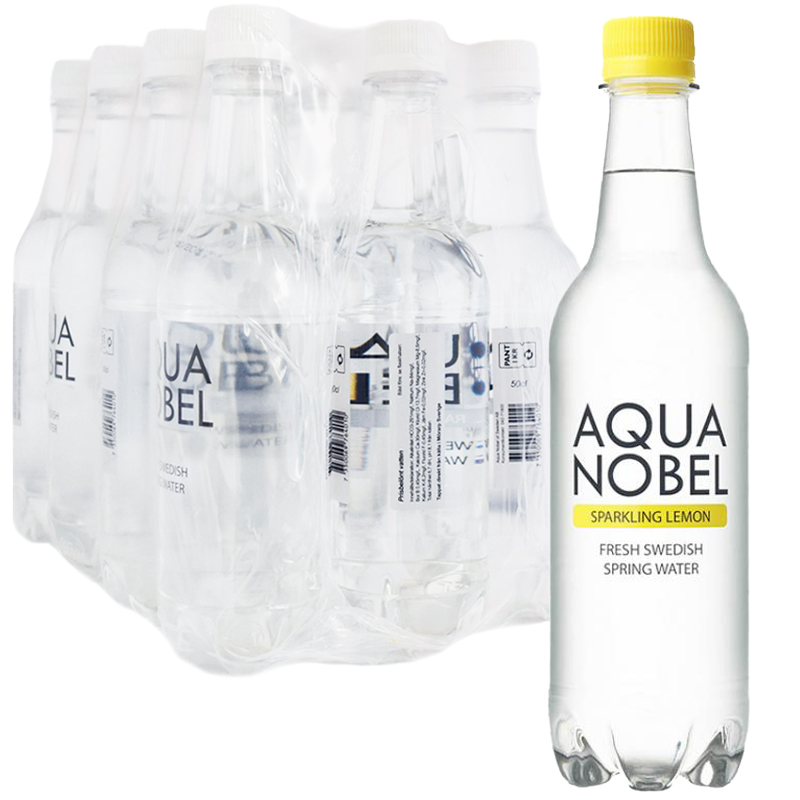 """Hel Låda Kolsyrat Vatten """"Lemon"""" 12 x 50cl - 68% rabatt"""