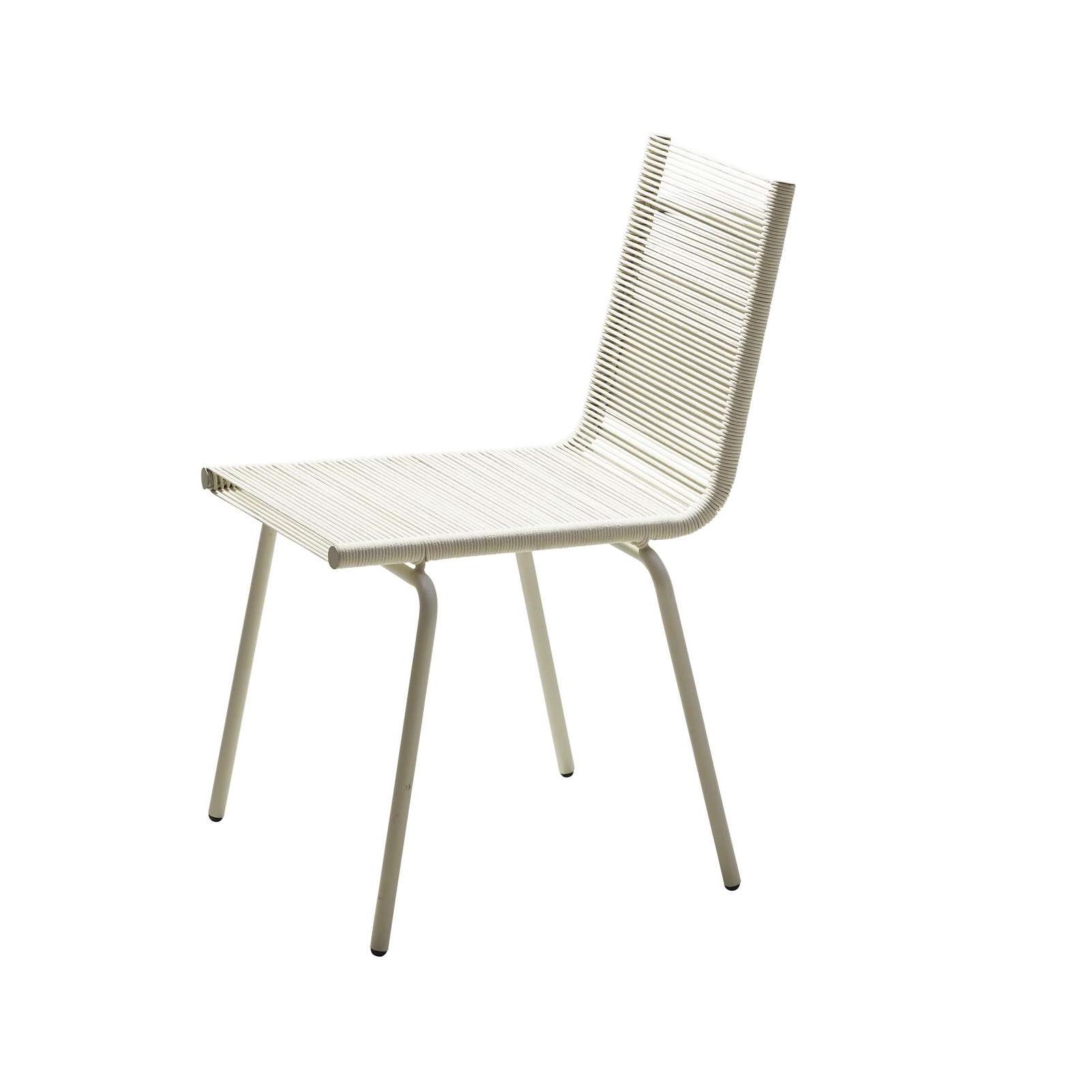 SIDD stol utan armstöd vit fiber, Cane-line