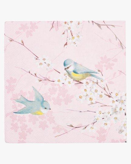 Paperiservetit, Pink Birds