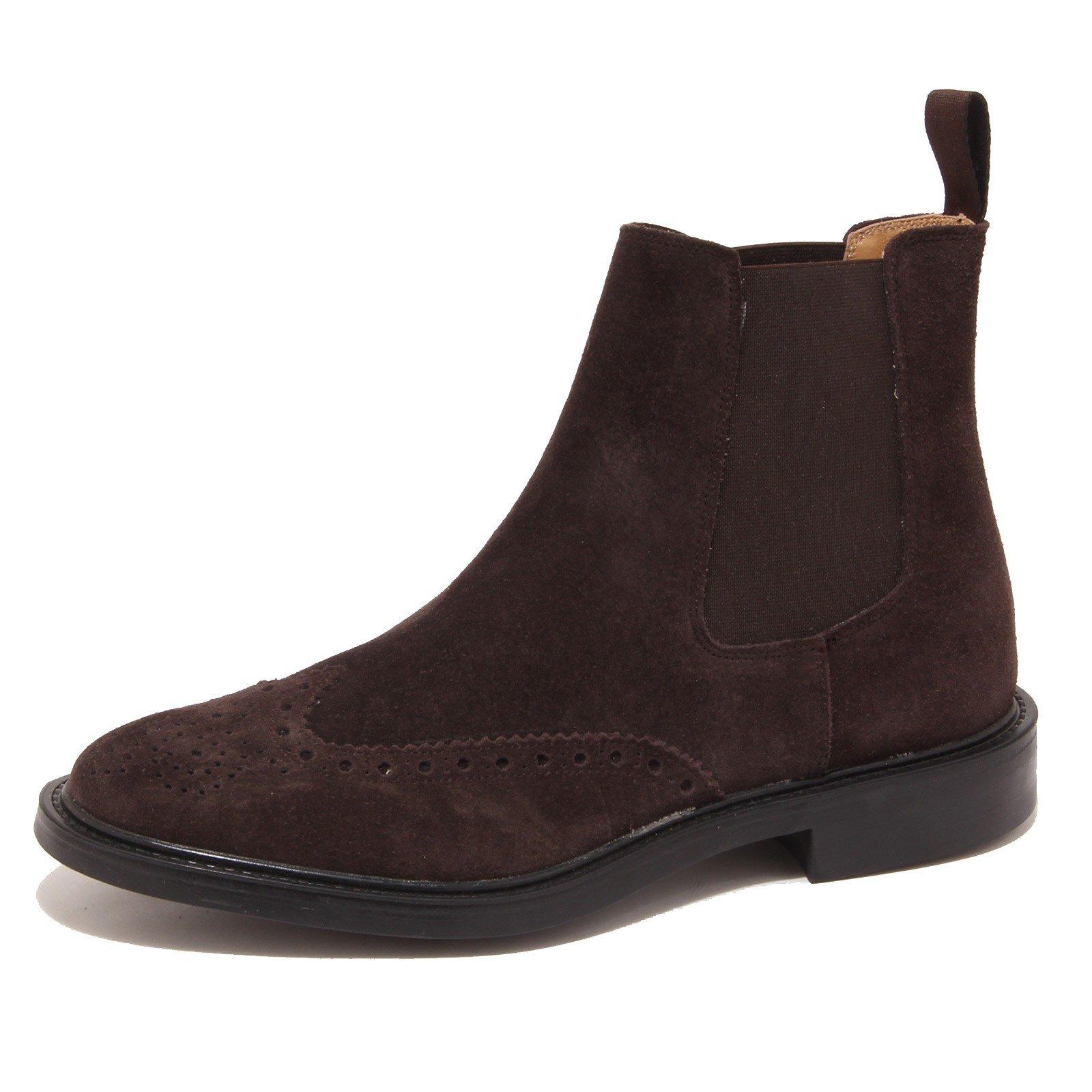 Saxone of Scotland Men's Suede Chelsea Boot Brown 2321_Dark - EU40.5/US7.5