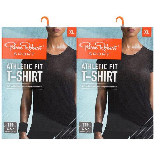 "T-shirt ""Athletic Fit Black Melange"" Extra Large 2-pack - 70% rabatt"