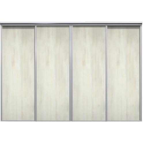 Mix Skyvedør White wood 3250 mm 4 dører