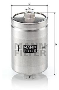 Polttoainesuodatin MANN-FILTER WK 725
