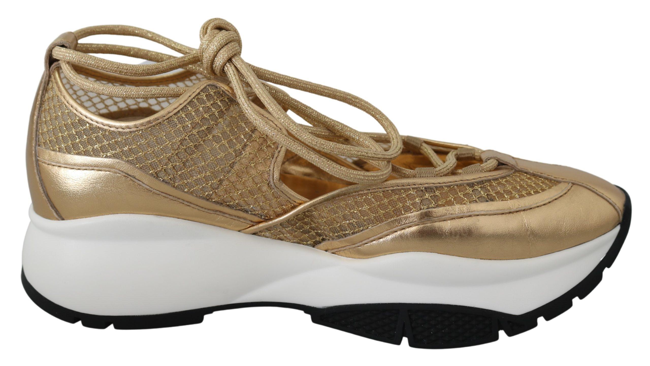 Jimmy Choo Women's Michigan Sneakers Gold 192954325091 - EU36/US6