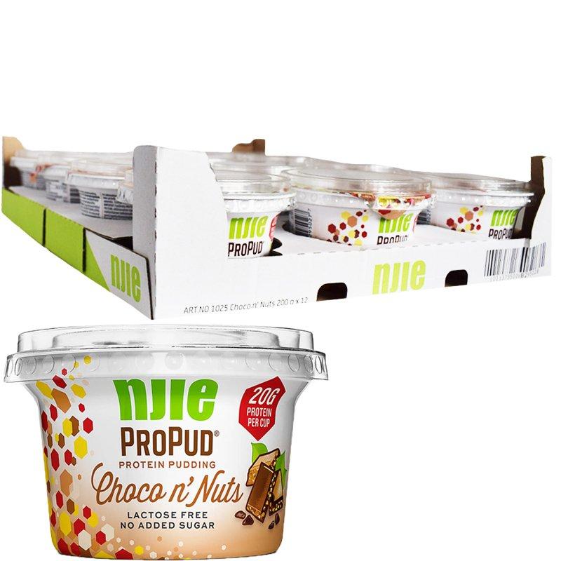 """Laatikollinen Proteiinivanukkaita """"Choco & Nuts"""" 12 x 200g - 58% alennus"""