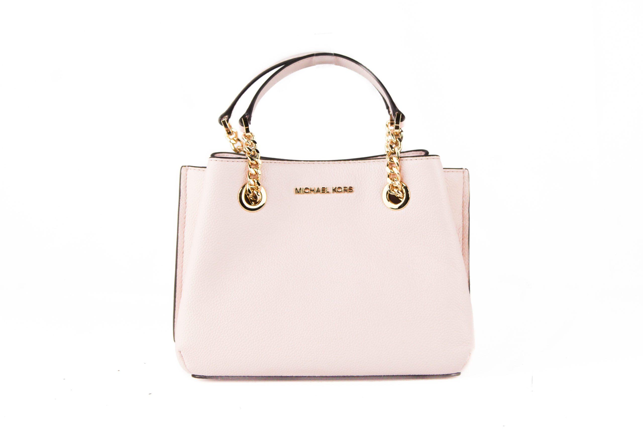 Michael Kors Women's Teagen Signature Leather Small Shoulder Bag Pink 709758