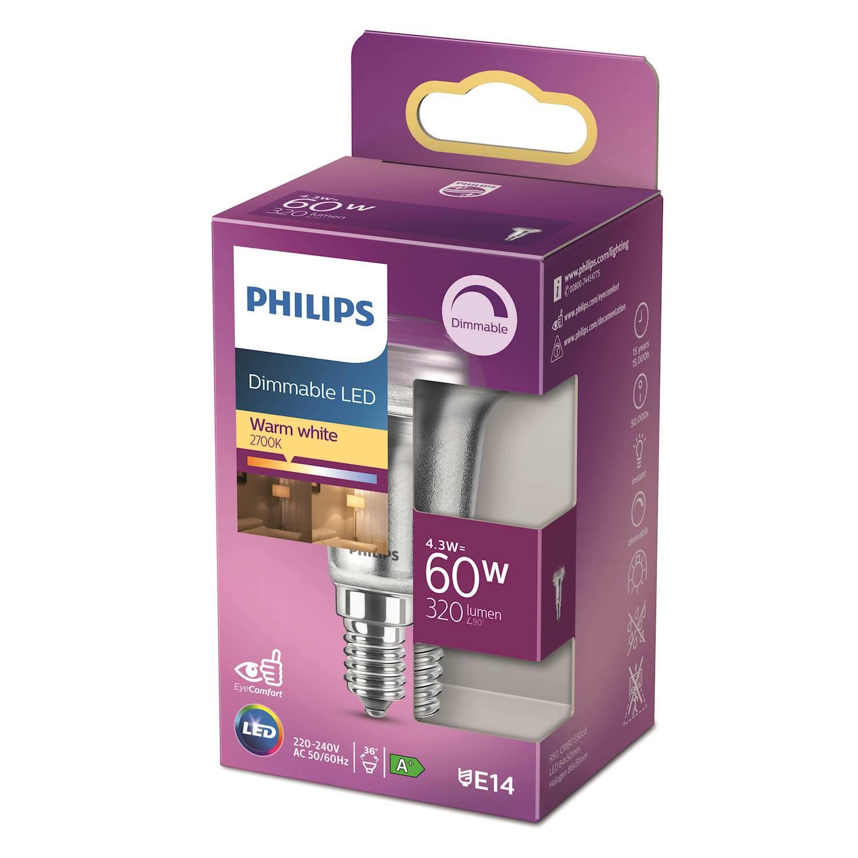 Philips LED Classic 60w refl e14 d