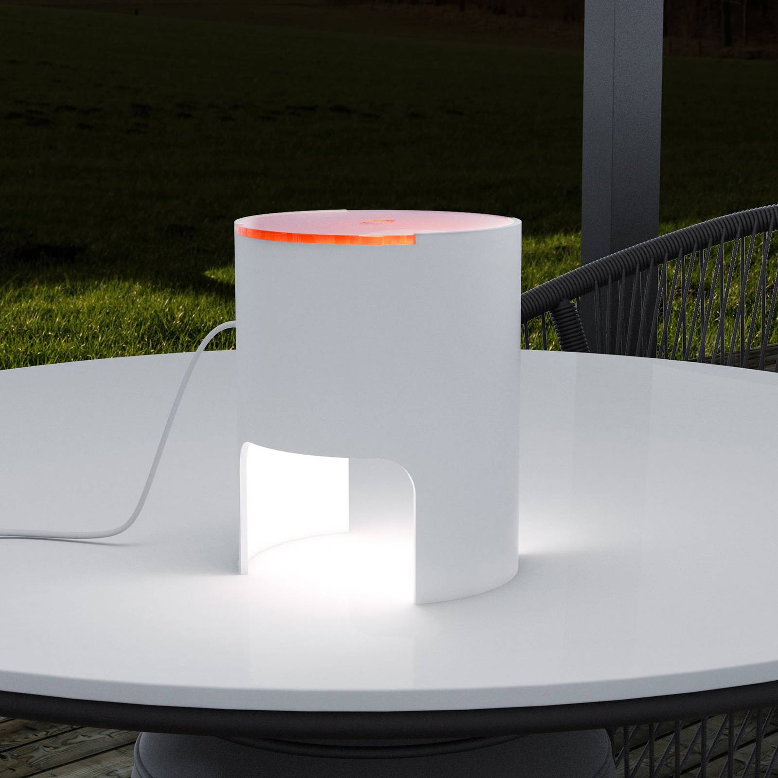 Martinelli Luce Civetta -pöytälamppu, oranssi