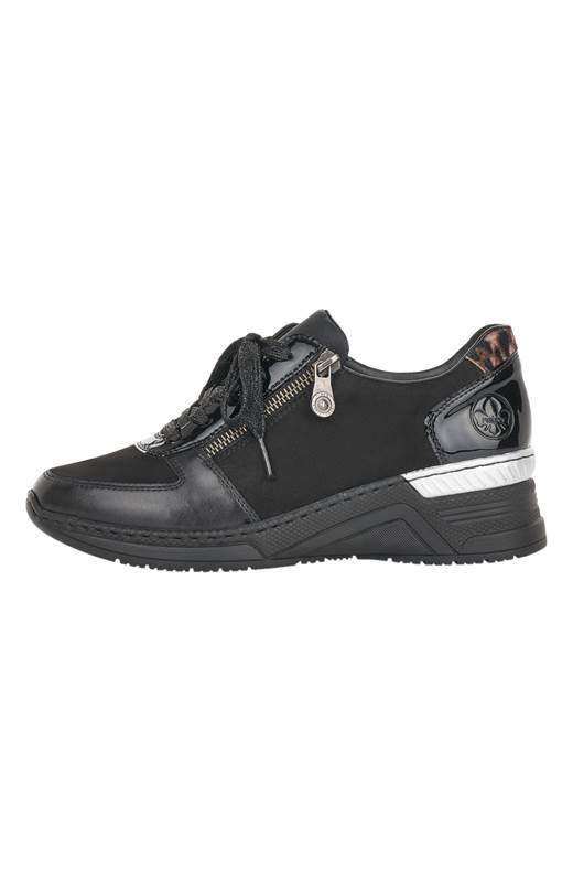 Rieker Sneakers Svart Leopard