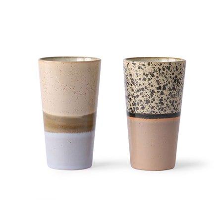 Ceramic 70's Lattekopp 2 stk