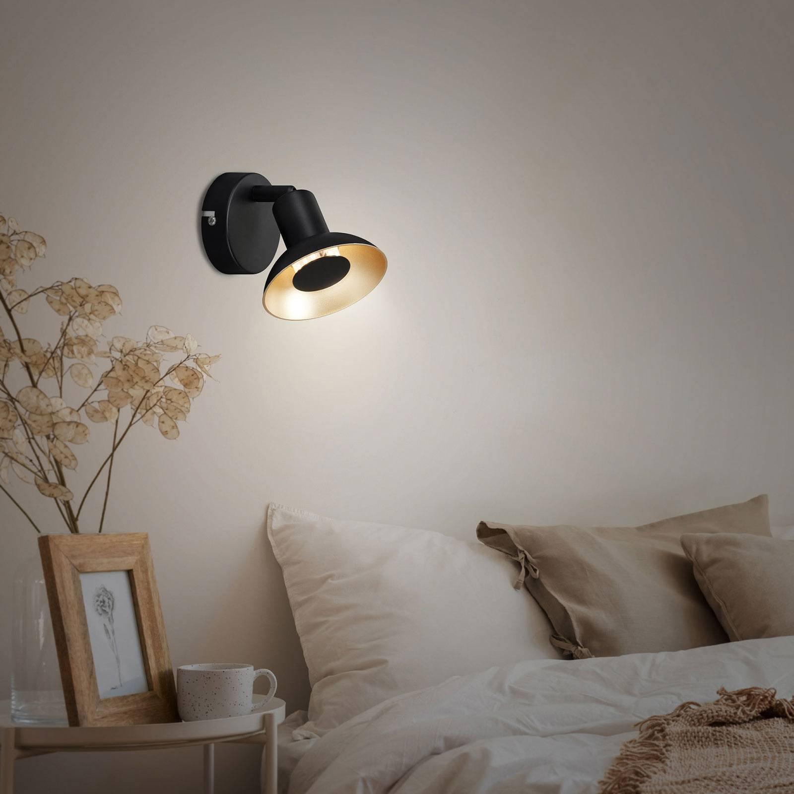 LED-vegglampe Kukui, 1 lyskilde