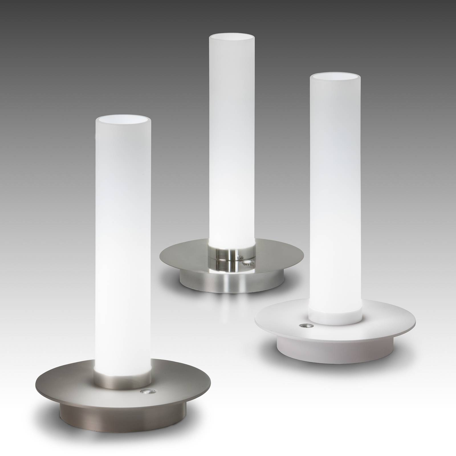 LED-pöytälamppu Candle, kromi