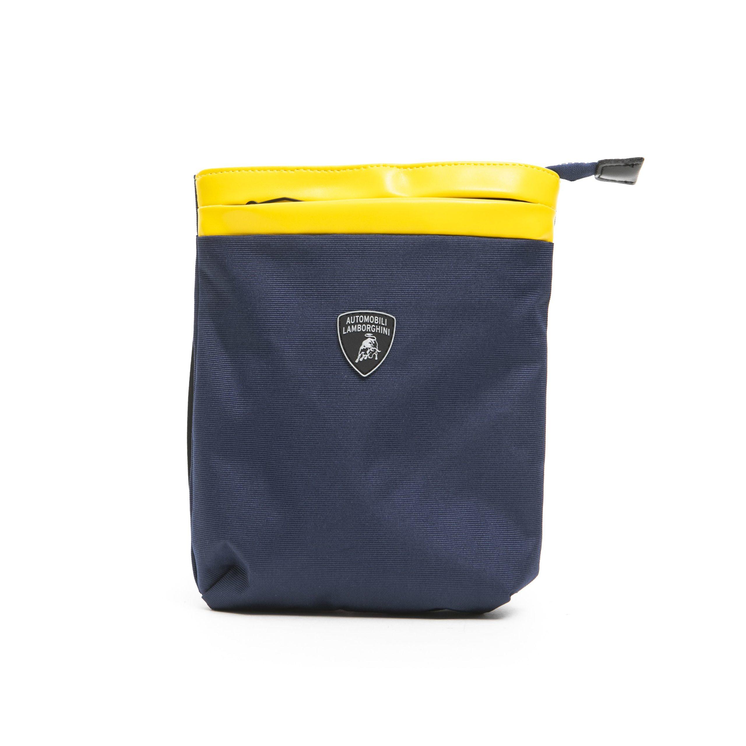Lamborghini Men's Messenger Bag Blue LA1265721