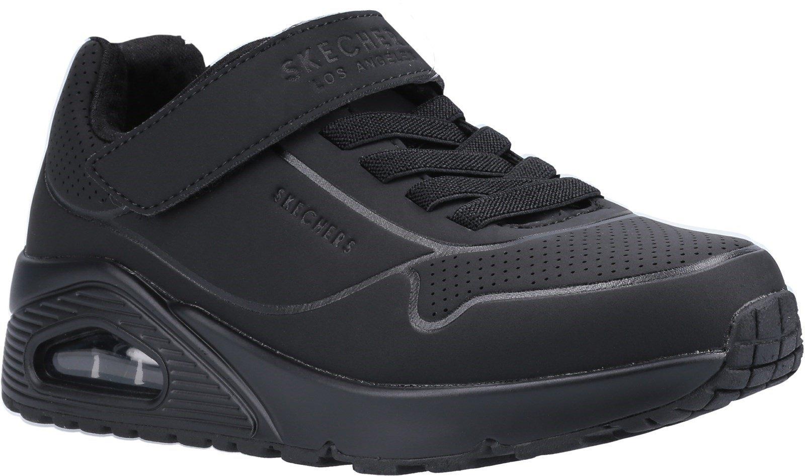 Skechers Kid's Uno Air Blitz Casual Trainer Various Colours 30898 - Black/Black 10.5