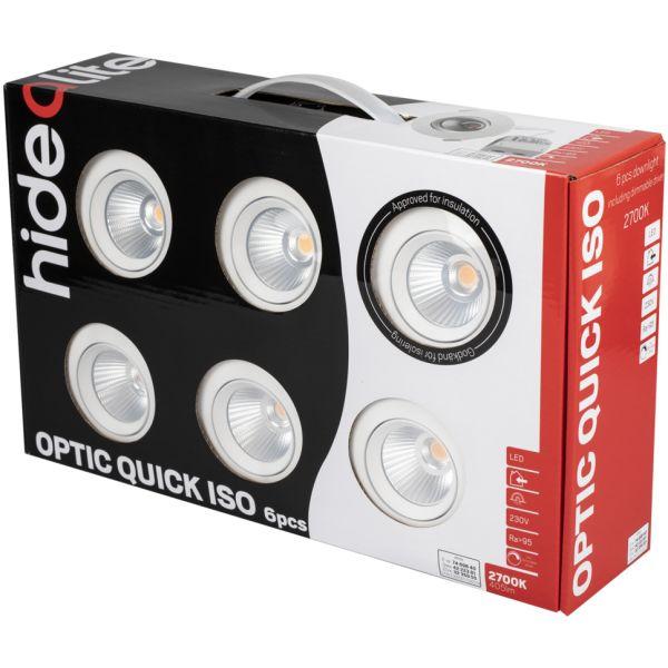 Hide-a-Lite Optic Quick ISO Alasvalo valkoinen, 6-pack 2700 K
