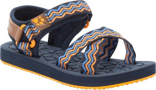 Jack Wolfskin Zulu Sandal, Blue/Orange, 27